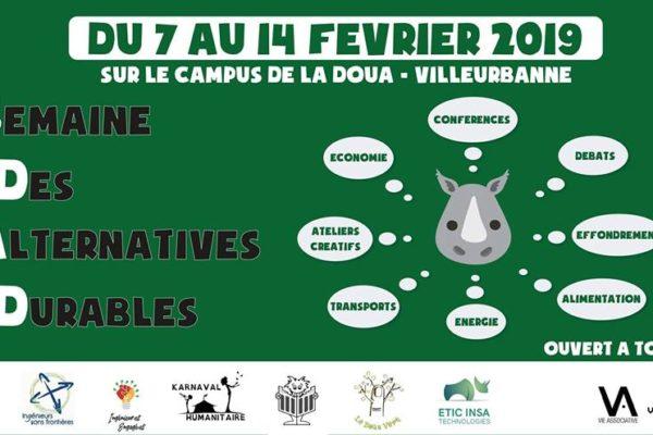 Venez nous rencontrer à la Semaine des Alternatives Durables Jeudi 7 février de 13:30 à 17:30