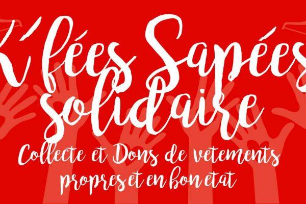 """K'Fées Sapées """"Solidaire """" Collecte et dons de vêtements"""